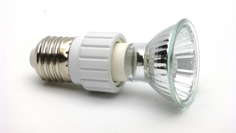 Carolina Designer Dragons Reptile Basking Bulb Adapters E27 Standard Thread To Halogen Gu10