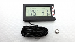 Reptile Digital Thermometer and Hygrometer on Single Probe
