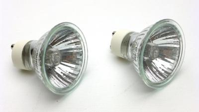 50w GU10 Halogen Reptile Basking Bulbs, set of 2