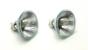 75w GU10 Halogen Reptile Basking Bulbs, set of 2