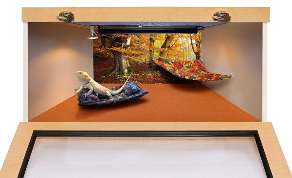 Chaise Lounge for Bearded Dragons, Bluegreen Lavendar Batik fabric