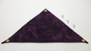 Hammock for Bearded Dragons, Dark Purple Batik fabric with suction cup hooks